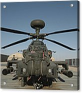 An Apache Helicopter At Camp Bastion Acrylic Print