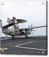 An E-2c Hawkeye Launches Off The Flight Acrylic Print