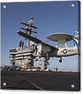 An E-2c Hawkeye Makes An Arrested Acrylic Print