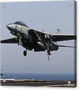 An F-14d Tomcat Comes In For An Acrylic Print