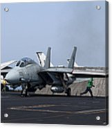 An F-14d Tomcat In Launch Position Acrylic Print