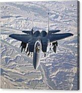An F-15e Strike Eagle Soars Acrylic Print