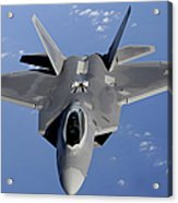An F-22 Raptor Moves Into Position Acrylic Print