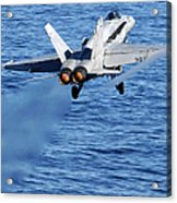 An Fa-18c Hornet Taking Off Acrylic Print
