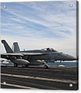 An Fa-18f Super Hornet Takes Acrylic Print