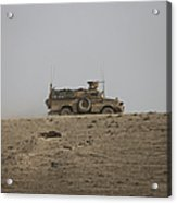 An Mrap Vehicle Patrols The Ridge Acrylic Print