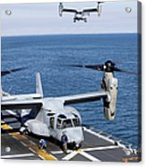 An Mv-22 Osprey Tiltrotor Aircraft Acrylic Print