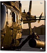 An Oh-58d Kiowa During Sunset Acrylic Print