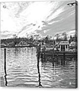 Anchor Inn Cove Acrylic Print