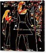 Ancient Egyptian Hieroglyphs Acrylic Print