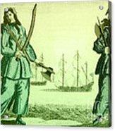 Anne Bonny And Mary Read, 18th Century Acrylic Print