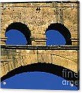 Aqueduc Du Pont Du Gard.provence Acrylic Print by Bernard Jaubert