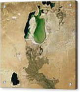 Aral Sea Acrylic Print by NASA / Science Source
