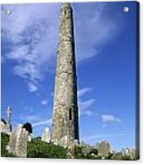 Ardmore Round Tower, Ardmore, Co Acrylic Print