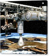 Artwork Of The International Space Station Acrylic Print
