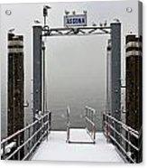 Ascona With Snow Acrylic Print