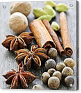 Assorted Spices Acrylic Print by Elena Elisseeva
