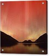 Aurora Borealis Over Jordan Pond Acrylic Print