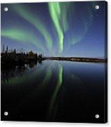 Aurora Borealis Over Long Lake Acrylic Print