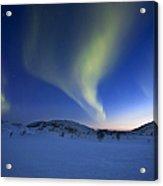 Aurora Borealis Over Skittendalen Acrylic Print