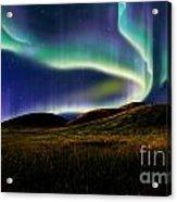 Aurora On Field Acrylic Print
