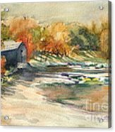 Autumn Morning At The Cove Acrylic Print