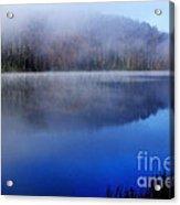 Autumn Morning Mist On Lake Acrylic Print