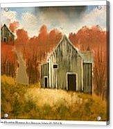 Autumn Rustic Barns Acrylic Print