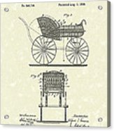 Baby Carriage 1886 Patent Art Acrylic Print