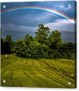 Backyard Rainbow Acrylic Print