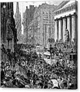 Bank Panic, 1884 Acrylic Print