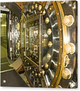 Bank Vault Interior Acrylic Print by Adam Crowley