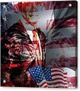 Barack Acrylic Print by Fania Simon