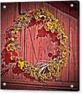 Barn Wreath Acrylic Print
