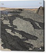 Basaltic Lava Flow From Pit Crater Acrylic Print