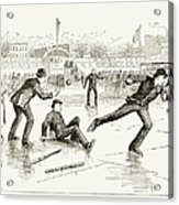 Baseball On Ice, 1884 Acrylic Print