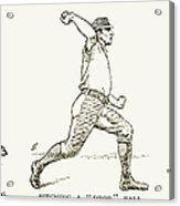 Baseball Pitching, 1889 Acrylic Print