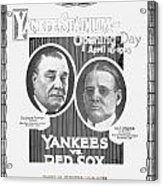 Baseball Program, 1923 Acrylic Print