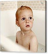 Bathing Child Acrylic Print