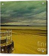 Beach Of Leight Edinburgh Acrylic Print by Elena Mussi