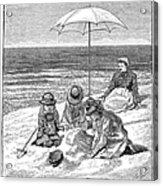 Beach Scene, 1879 Acrylic Print