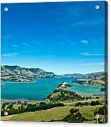 Beautiful Summer Day View Into The Akaroa Harbour Acrylic Print