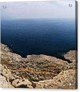 Beautiful View On Mediterranean Sea From Cape Gkreko In Cyprus Acrylic Print