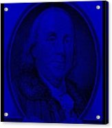 Ben Franklin In Blue Acrylic Print