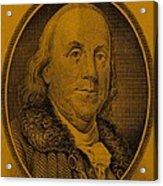 Ben Franklin In Orange Acrylic Print