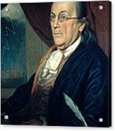Benjamin Franklin, American Polymath Acrylic Print