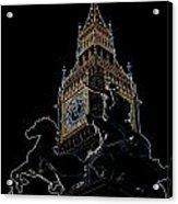 Big Ben And Boudica Statue Acrylic Print