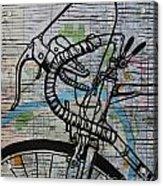 Bike 2 On Map Acrylic Print