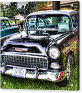 Black And White Chevy Acrylic Print