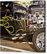 Black Hot Rod Big Engine Acrylic Print